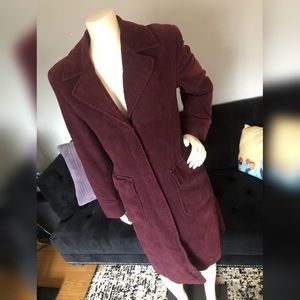 French Connection Women's Long Purple Trench Coat